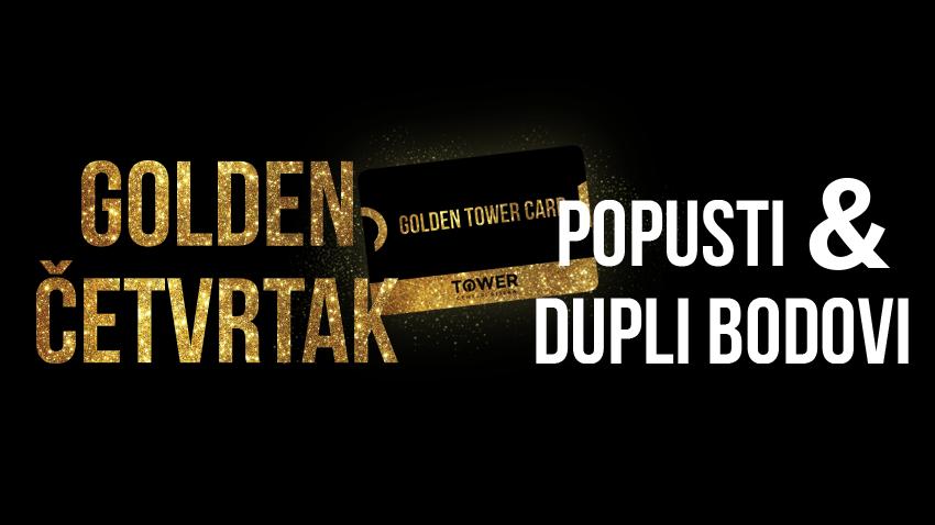 GOLDEN ČETVRTAK - OSTVARI POPUSTE I DUPLE BODOVE